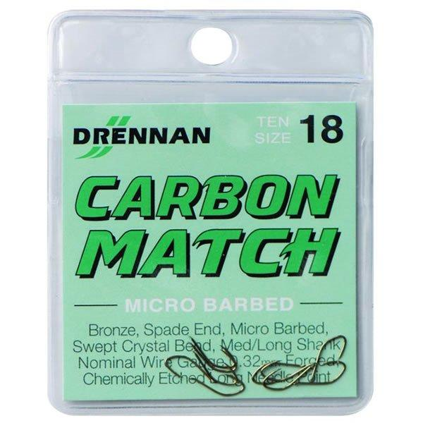 Drennan New Generation Carbon Match Microbarbed Spade-End Hooks
