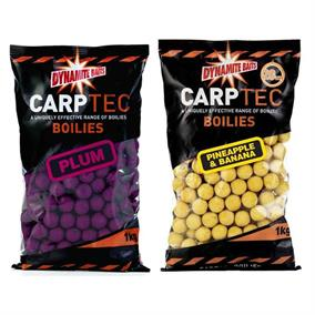 Dynamite Baits CarpTec Strawberry and Banana Boilies - NEW!