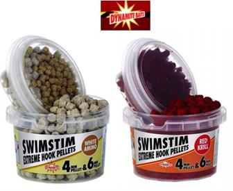 Dynamite Baits Swim Stim Extreme Hook Pellets - Red Krill or White Amino
