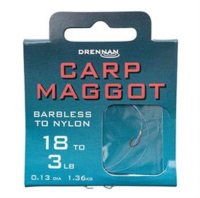 Drennan Barbless Carp Maggot Spade-End Hooks To Nylon