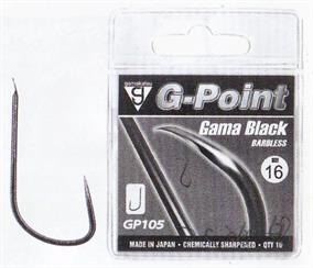 Daiwa Gamakatsu G-Point Gama Black Barbless Hooks