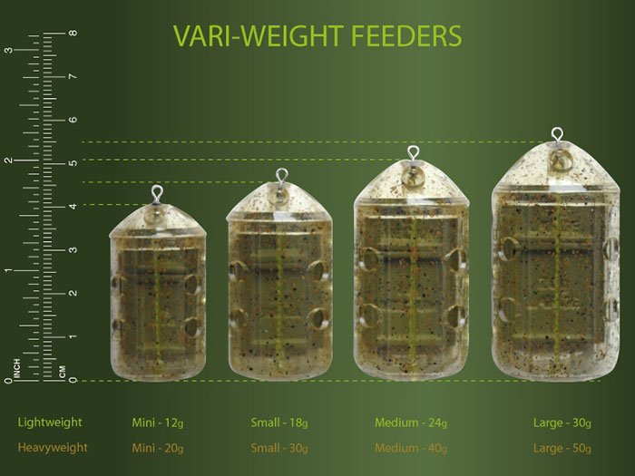All Sizes Available Brand New Drennan Variweight Vari-Weight Feeder Twin Pack