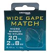 Drennan Wide Gape Match MicroBarbed Spade-End Hooks To Nylon