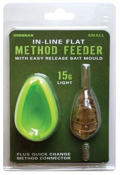 4 feeders in total Drennan Type Method Mould inline style Feeders 20g