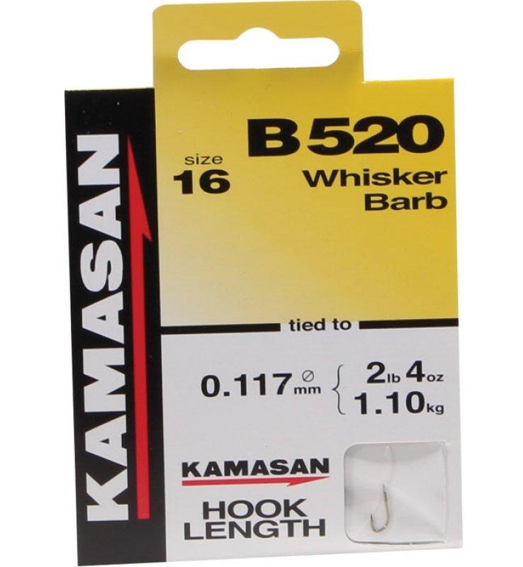 Kamasan B520 Barbed Hooks To Nylon Whisker Barb Course Match Fishing 14 16 18 20