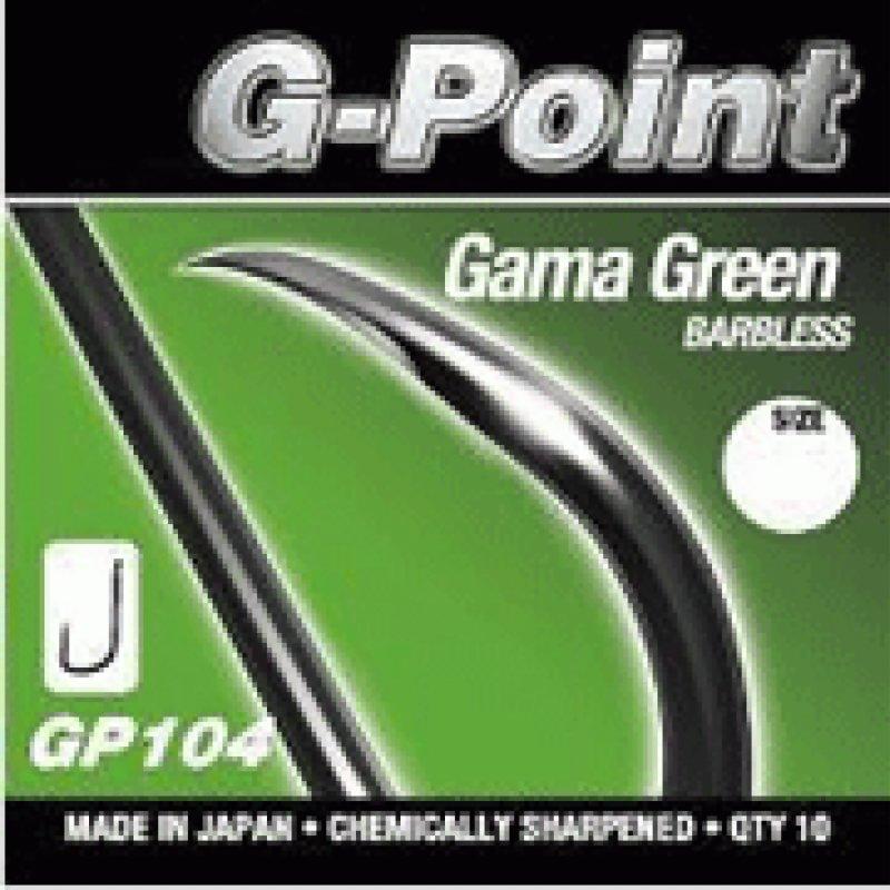 Gamakatsu G-Point Gamma Green Barbless Hooks 10 per pack  Match Coarse Fishing