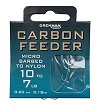 Drennan Carbon Feeder Hooks To Nylon