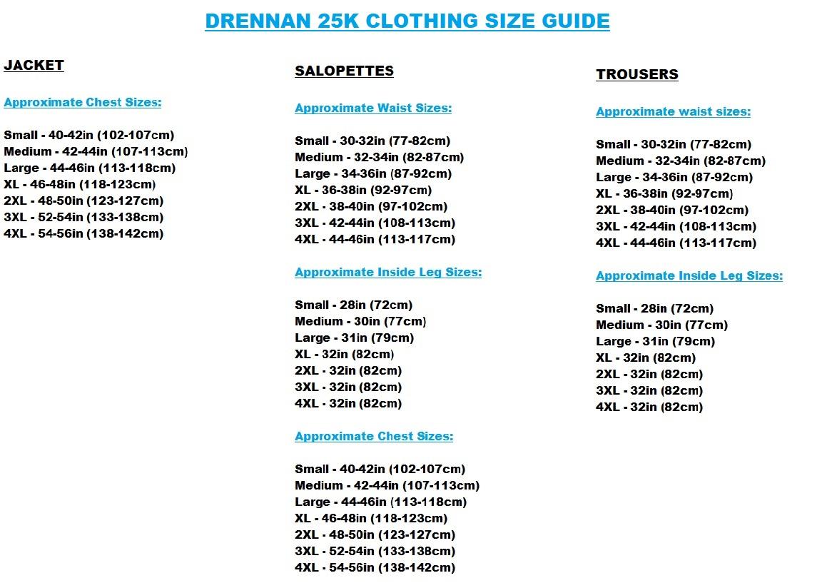 Drennan Quilted Waterproof Salopettes Size XXL