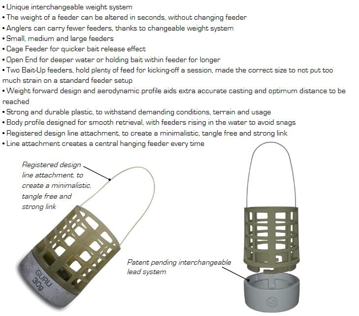 Match /& Coarse Fishing X-Change Bait Up Feeder Particle Caps Guru Carp